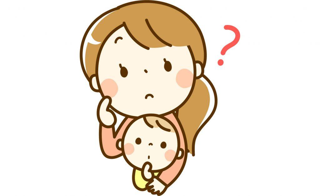 フリーイラスト] 疑問が浮かぶママと赤ちゃん - パブリックドメインQ ...